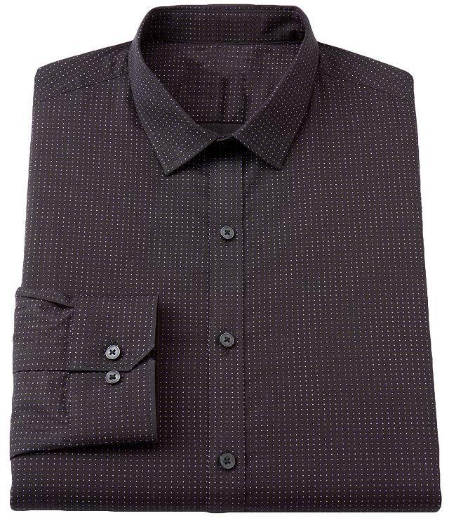 Rock & Republic Rock and republic slim-fit dot spread-collar dress shirt