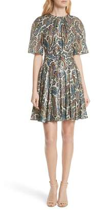 Diane von Furstenberg Belted Silk Blend Dress