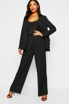 boohoo Wide Leg Woven Tailored Trouser