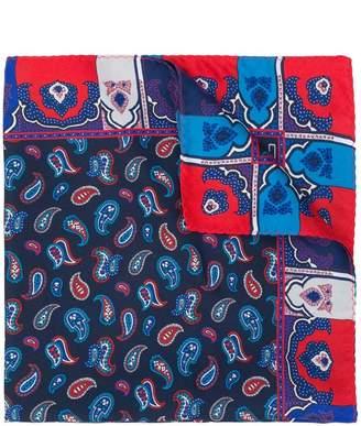 Etro reversible paisley print scarf