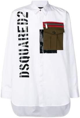 DSQUARED2 oversized chest pocket shirt
