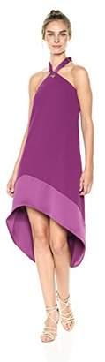 Trina Turk Women's Glow Halter Neck Carmel Crepe Dress
