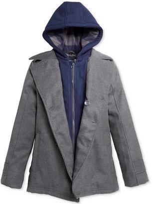 London Fog Layered-Look Hooded Peacoat, Little Boys (2-7) & Big Boys (8-20) $110 thestylecure.com