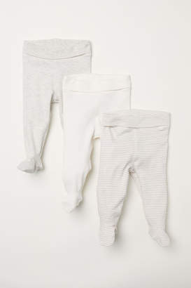 H&M 3-pack Pants with Feet - Brown