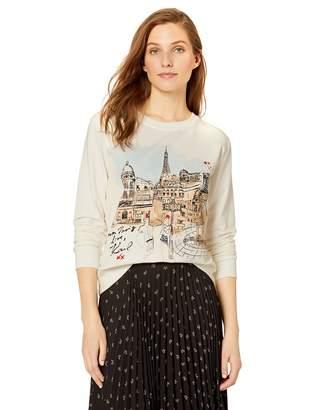 Karl Lagerfeld Paris Women's Paris Landscape Sweatshirt, M