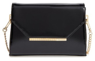 Ted Baker London Faux Leather Crossbody Bag - Black $139 thestylecure.com