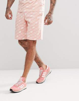 adidas Shorts With All Over Print In Pink Cv8604