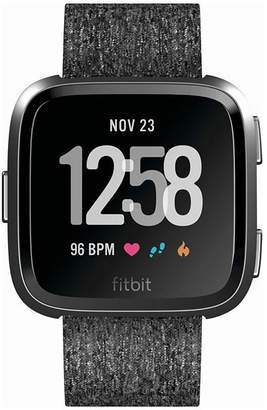 Fitbit Charcoal Printed Unisex Smart Watch-Fb505bkgy