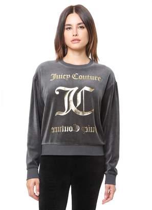 Juicy Couture Velour Juicy Mirror Emblem Pullover