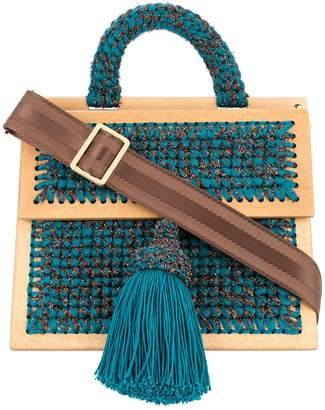 0711 Copa large woven handbag