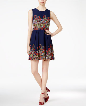 Maison Jules Floral-Print Fit & Flare Dress, Only at Macy's $69.50 thestylecure.com
