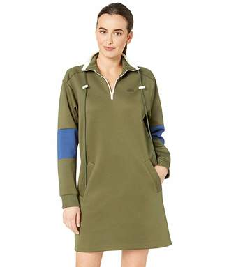 Lacoste Long Sleeve Neoprene Dress with Pockets