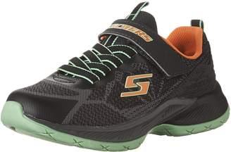 Skechers Kid's Lunar Sonic Sneakers, Charcoal/Black/Lime/Orange