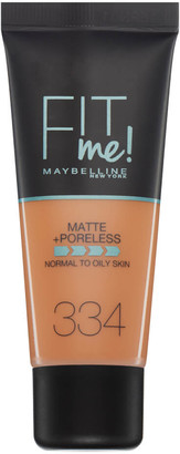 Maybelline Fit Me! Matte and Poreless Foundation 30ml (Various Shades) - 334 Warm Tan