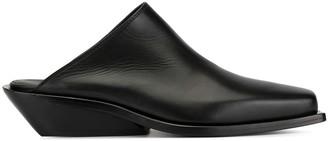Ann Demeulemeester square toe slippers