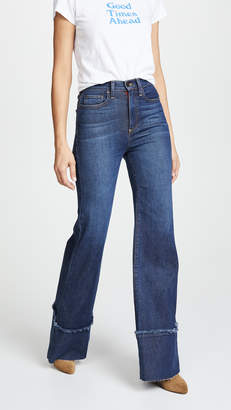 Alice + Olivia AO.LA by Gorgeous High Rise Trouser Jeans with Exaggerated Hem