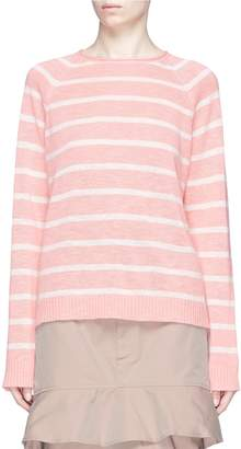 Bassike Stripe linen-cotton sweater