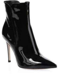 Gianvito Rossi Women's Patent Leather High Heel Booties - Black - Size 39 (9)