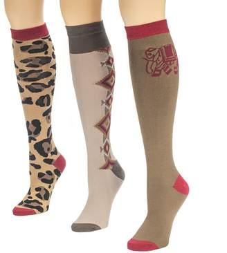 Muk Luks Women's Assorted 3-Pair Knee-High Socks