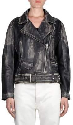 Acne Studios Vintage-Look Leather Jacket