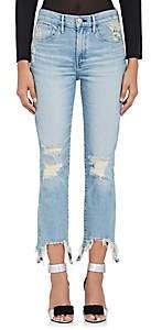 3x1 Women's W3 High Rise Straight Authentic Crop Jeans - Lt. Blue