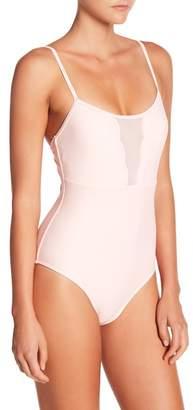 Betsey Johnson Scalloped One-Piece Swimsuit