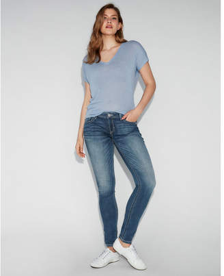 Express low rise thick stitch stretch jean leggings