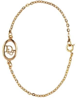 Susan Caplan Vintage 1990s Vintage Christian Dior Oval Logo Bracelet