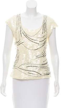 Krizia Sequined Abstract Top