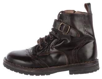 Pépé Boys' Leather Ankle Boots