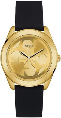 GUESS Women's Logo Black Silicone Strap Watch 38mm
