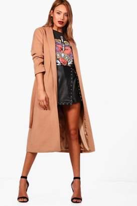 boohoo Belted Wrap Maxi Robe Coat