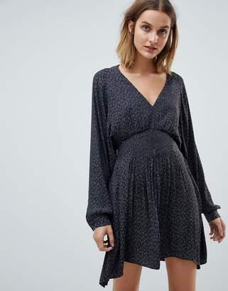AllSaints nichola leopard mini dress