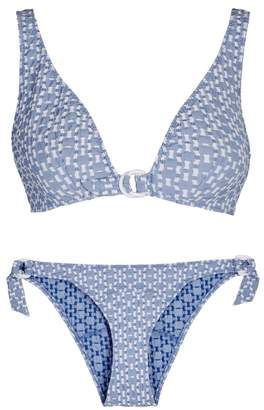 Lisa Marie Fernandez Melissa Light Blue Seersucker Bikini