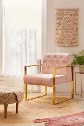 Mindi Velvet Tufted Arm Chair