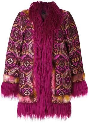Anna Sui draped embroidered coat