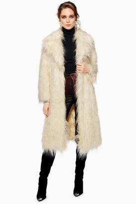 Topshop Mongolian Faux Fur Coat