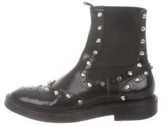 Balenciaga Studded Wingtip Chelsea Boots Black Studded Wingtip Chelsea Boots