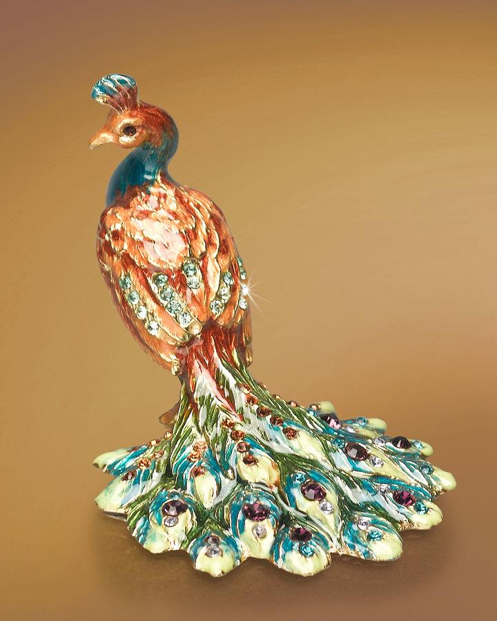 Jay Strongwater Kerri Peacock Mini Figurine