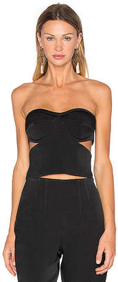 KENDALL + KYLIE Tuxedo Bustier Top in Black $98 thestylecure.com
