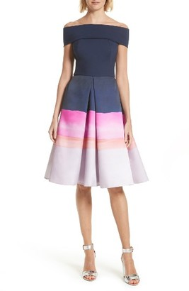 Women's Ted Baker London Holli Off The Shoulder Dress $429 thestylecure.com