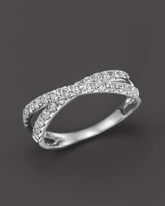 Bloomingdale's Diamond Crossover Band Ring in 14K White Gold, .75 ct. t.w. - 100% Exclusive