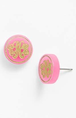 Moon and Lola 'Chelsea' Small Personalized Monogram Stud Earrings