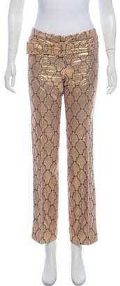 Prada Metallic Jacquard Pants Champagne Metallic Jacquard Pants