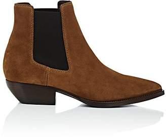 Saint Laurent Men's Theo Suede Chelsea Boots - Beige, Tan