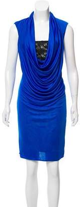 Black Halo Sleeveless Knee-Length Dress