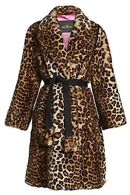 Marc Jacobs Women's The Leopard Faux Fur Coat