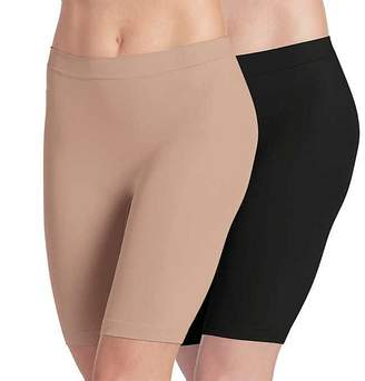 Jockey Ladies' Skimmies Slip Short Smooth Lightweight Mid-Length , 2 Pack