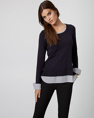 Le Château Knit & Woven 2-in-1 Sweater