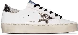 Golden Goose Hi Star snake-print low-top leather sneakers